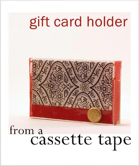 Easy cassette tape gift card holder - Mod Podge Rocks