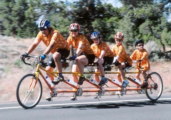 PRECISION TANDEMS - FAMILY TANDEM PICTURES Tandem Bicycle e4e25e897
