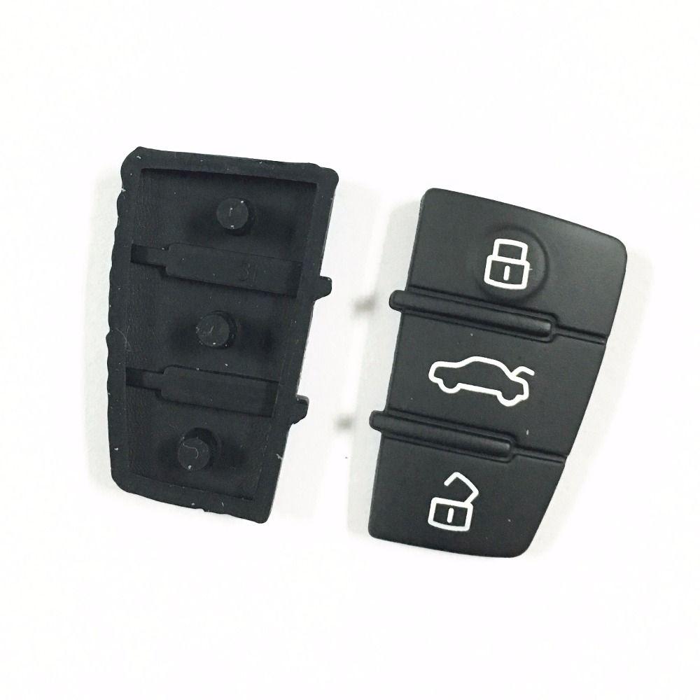 1pcslot 3 button replacement rubber pad remote key