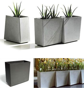 Modern Planters twista contemporary-modern tall commercial modern cement planters