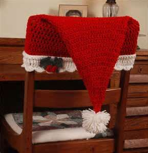 Crochet Christmas Chair Covers How To Make A Rocking Not Rock Santa Pattern Hat Back Cover