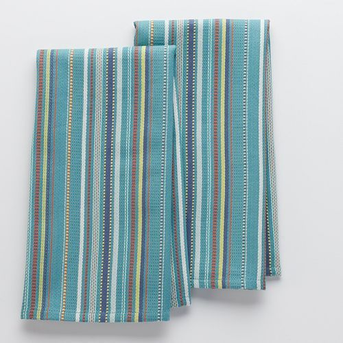 Food Network Waffle Stripe Kitchen Towels 2 Pk Kitchen Linens