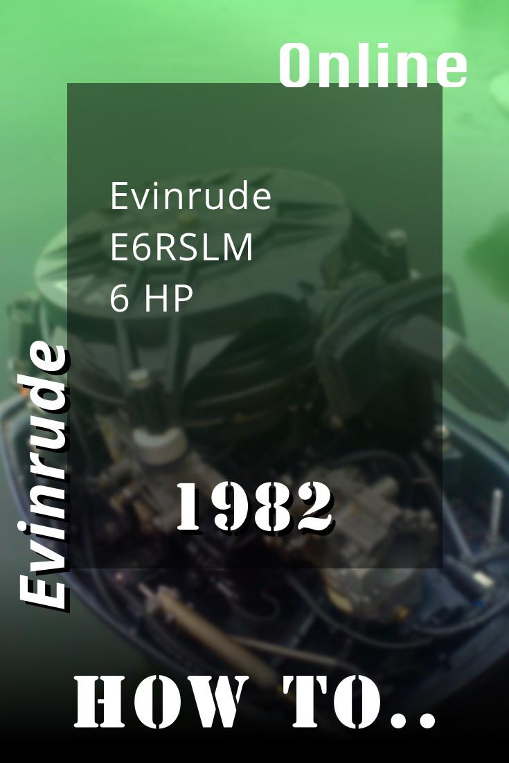 1982 E6rslm Evinrude 6hp Outboard Motor Repair Manuals Outboard Repair