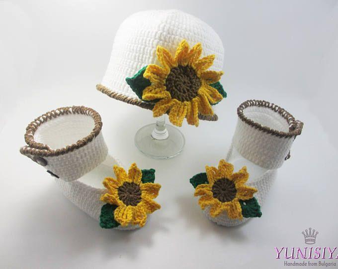 Conjunto de bebé ganchillo Crochet sombrero del ganchillo bebé niña ...