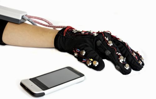 Glove Designers Plan Messaging Path For Deaf Blind With Images Wearable Tech Tech Gloves Wearable Technology