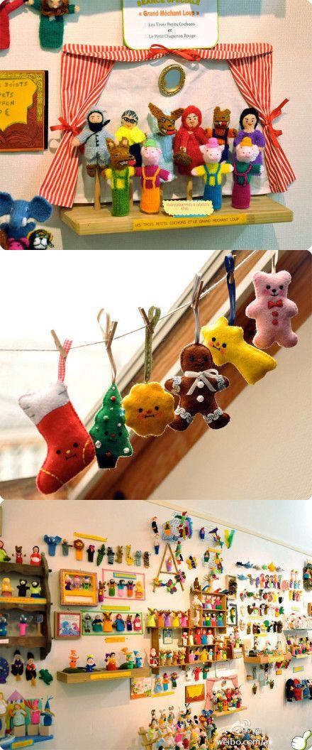 felt and crochet ornaments