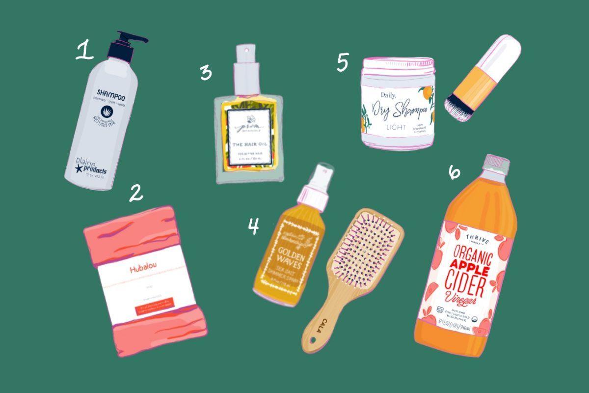 My 6-Step Organic, Low Maintenance Hair Care Routine #organichaircare