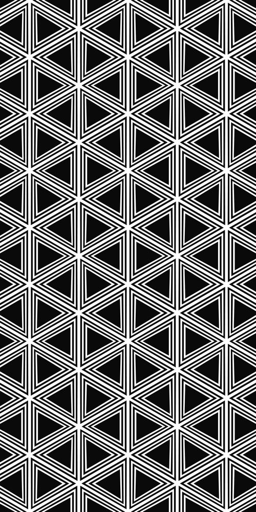 Seamless Black White Hexagonal Vector Triangle Stock Vector (Royalty Free) 346720022