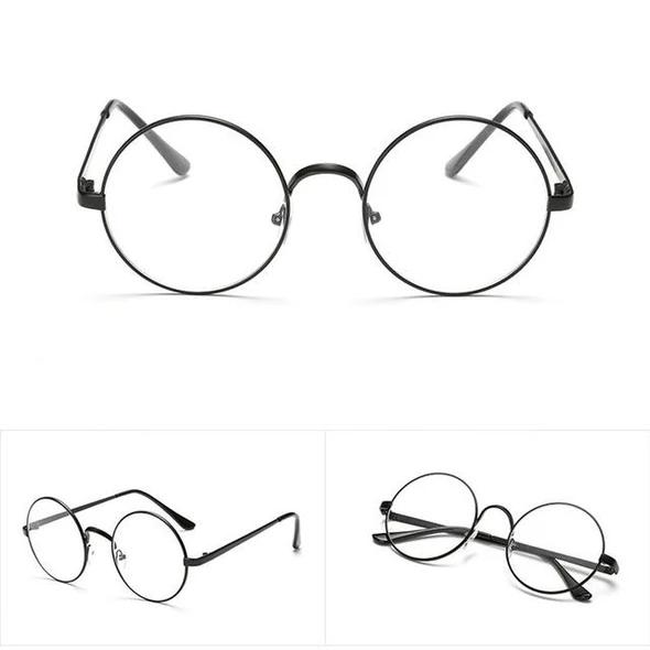 Vintage Gold Oval Eyeglass Frame Man Women Plain Glass Clear Full