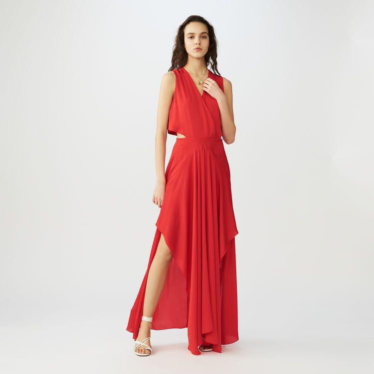 Robe longue portefeuille   Robes couleur Rouge   Mode   Dresses ... b59042874e2