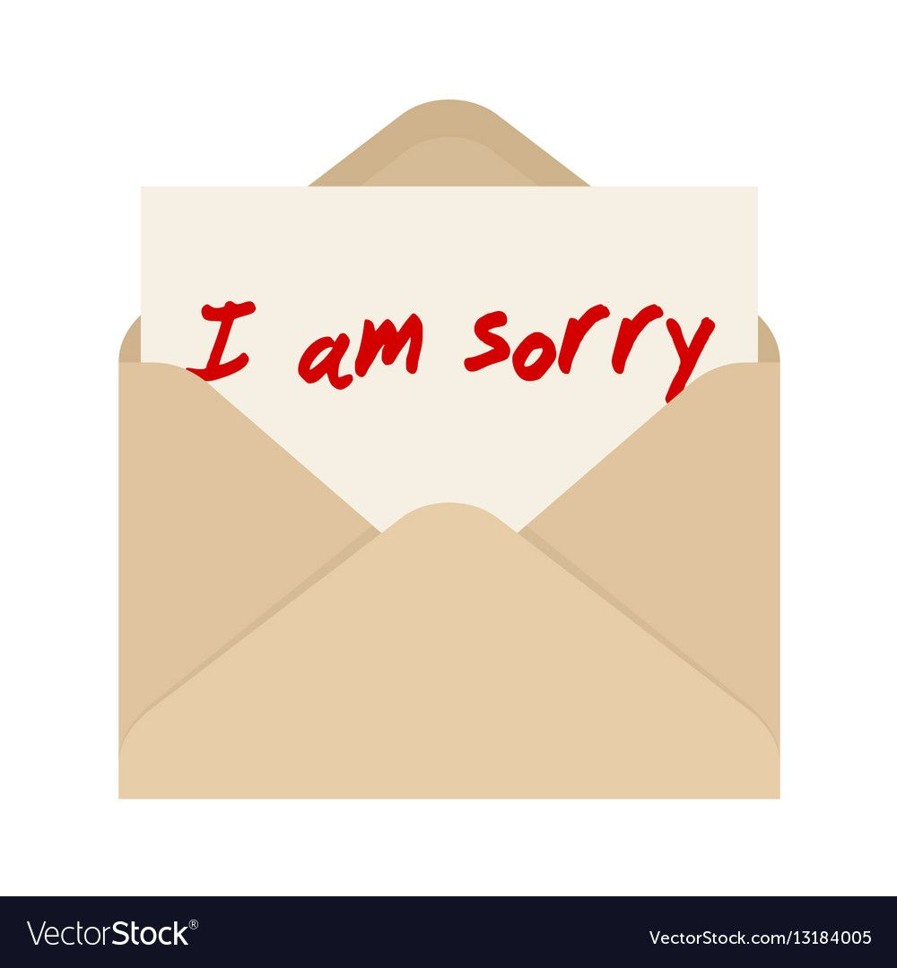 I Am Sorry Card In Brown Envelope The Letter For Sorry Card Template Cumed Org Sorry Cards Card Template Free Business Card Templates