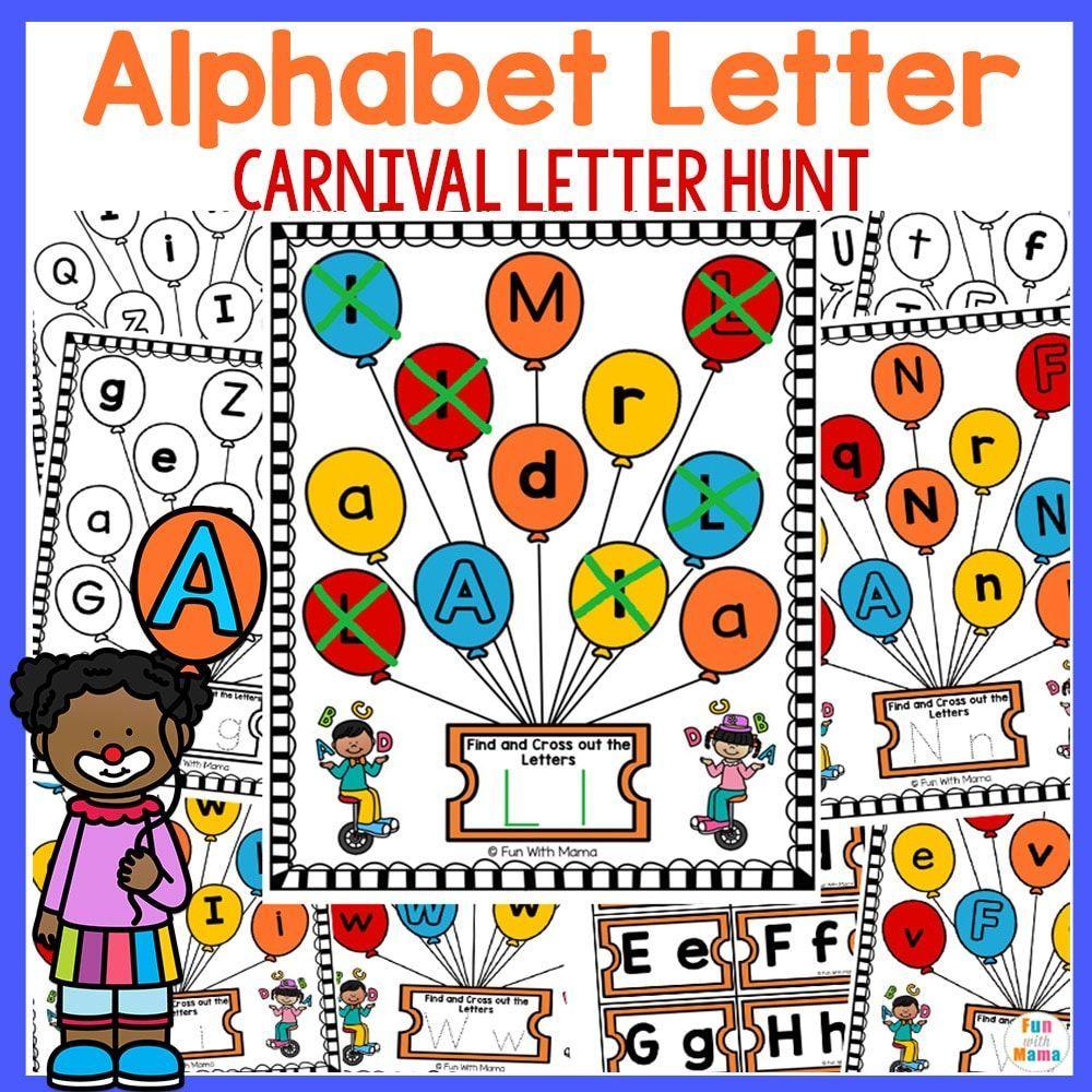 Carnival Letter Hunt Fun Preschool Letter Worksheets In 2020 Alphabet Letter Hunt Alphabet Letter Activities Preschool Letters [ 1000 x 1000 Pixel ]