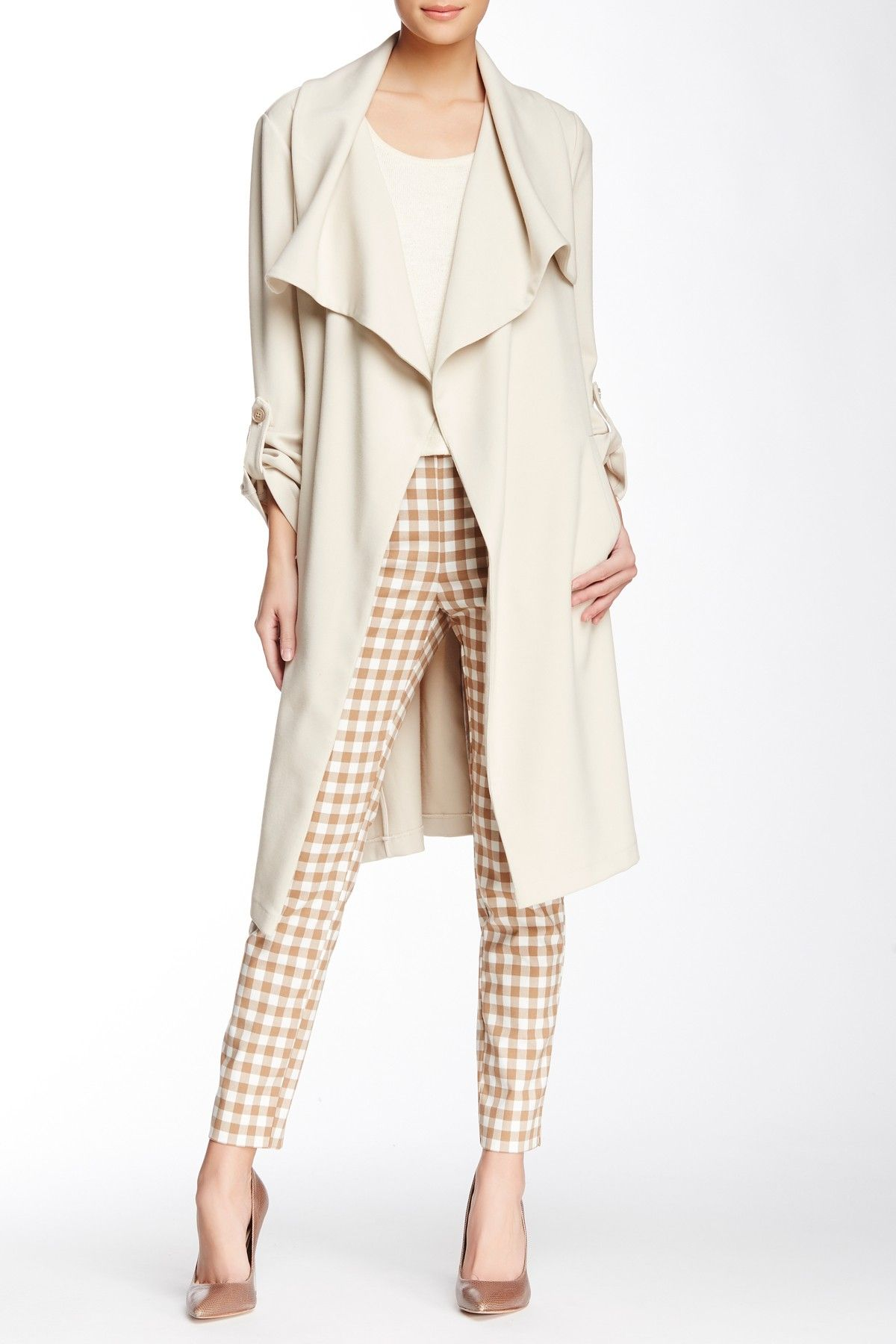 Draped & Belted Trench Coat by Soia & Kyo on @nordstrom_rack
