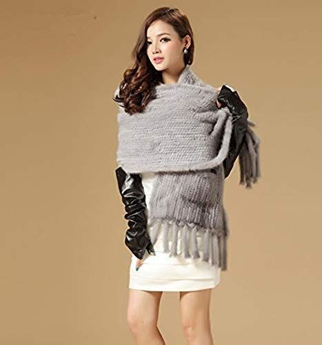 Photo of Amazing offer on Utini Luxury Autumn Winter Ladies White Gray Brown Fur Stole  Tassel  Pocket.Hand Knitted natual Mink Fur Knitted Scarf S27 – (Color: Gray, Size: One Size) online – Newclothingtrendy