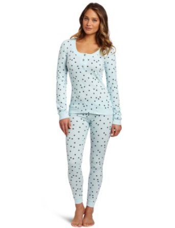 16ca9cd157c5 Tommy Hilfiger Women s Thermal Pajama Set- I like the top and pattern.  Looser bottoms tho