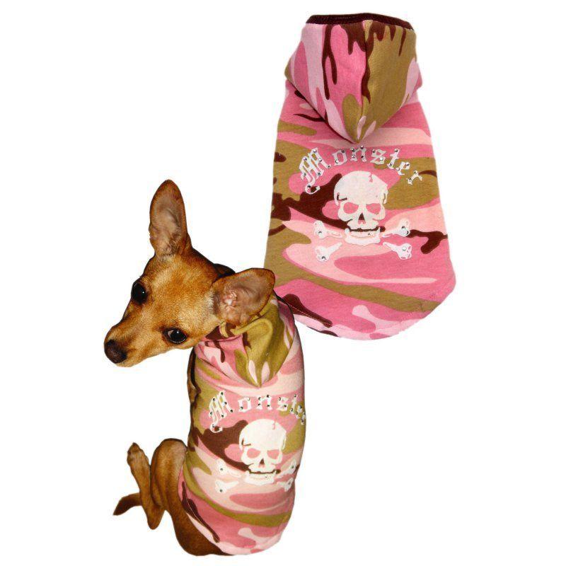 Hip Doggie Pink Camo Monster Hoodie - HD-1PCM-