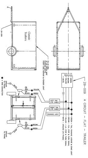 trailer wiring diagram 4 wire circuit