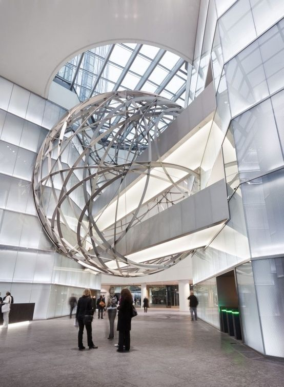 Deutsche Bank Sphere By Mario Bellini Architects Architect Design Sphere Design Architecture