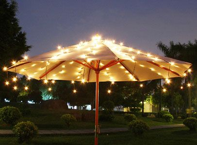 Elegant Night Under The Lights. Solar String LightsUnder The LightsUmbrella LightsShooting  StarsOutdoor ...