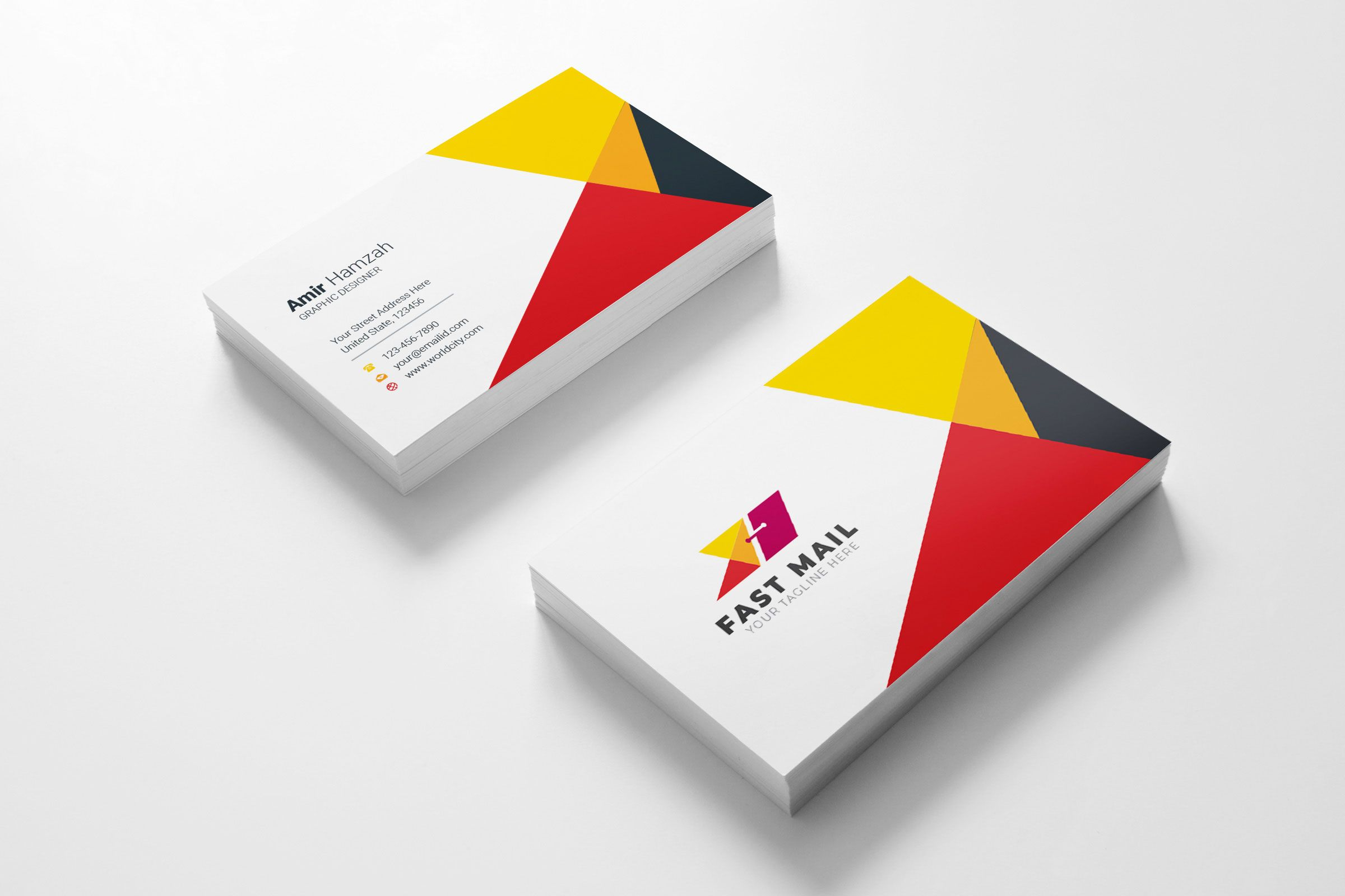 Fast Mail Visit Card Template With Images Business Cards