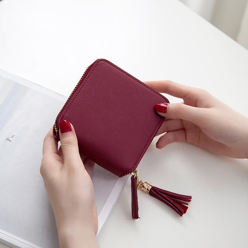2b86417baa8 Mara's Dream 2017 Korean Style Cute PU Leather Slim Mini Zipper ...