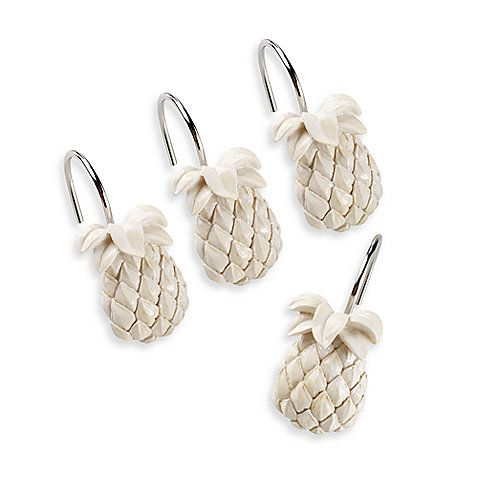 Tommy BahamaR Pineapple Shower Curtain Hooks Set Of 12