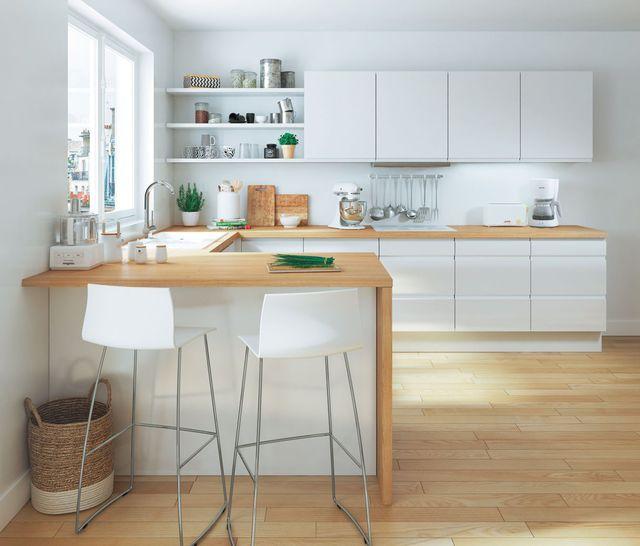 Cuisine : le bois s\'invite dans la cuisine dans la déco ou l ...