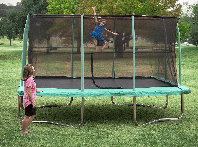 Reactangular Trampoline Jumpking Familyfun Toys Jump Trampolinejump Kids Girl Tappeti Elastici Trampolino Elastici