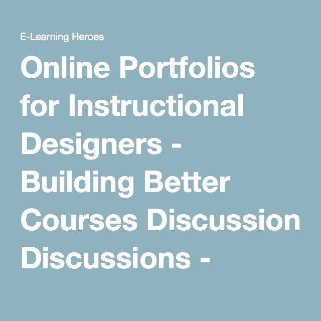 Online Portfolios For Instructional Designers Building Better