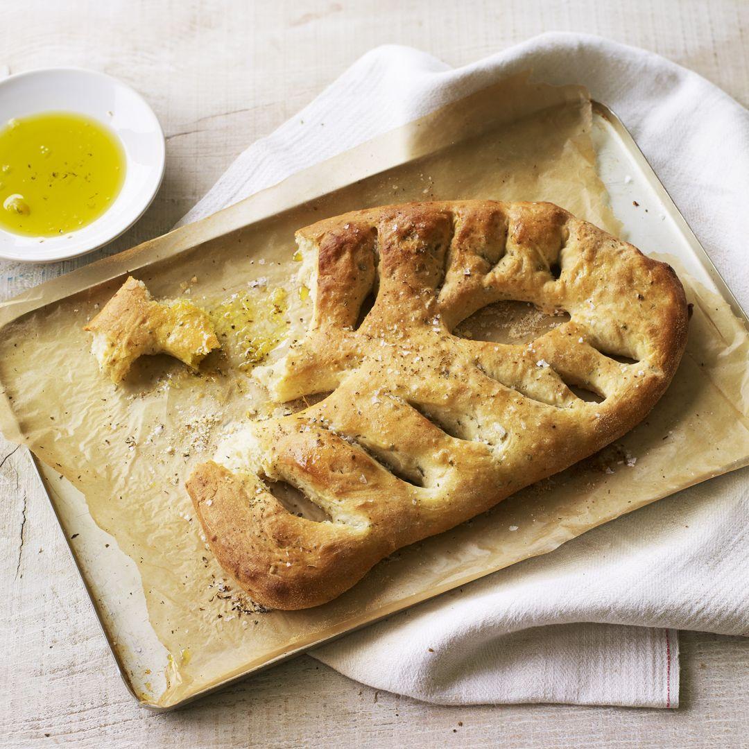 Fresh herb fougasse   Recipe   British bake off recipes ...