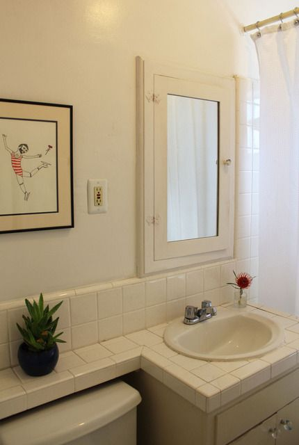 Bathroom Vanity Extended Over Toilet: Michael's Creatively Curated Home