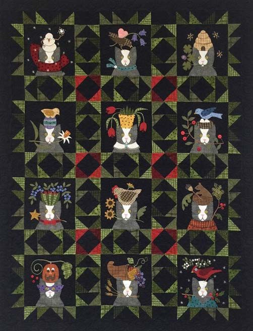 All Through the Night Tuxedo's Tales Quilt. I want to make this ... : all through the night quilt patterns - Adamdwight.com
