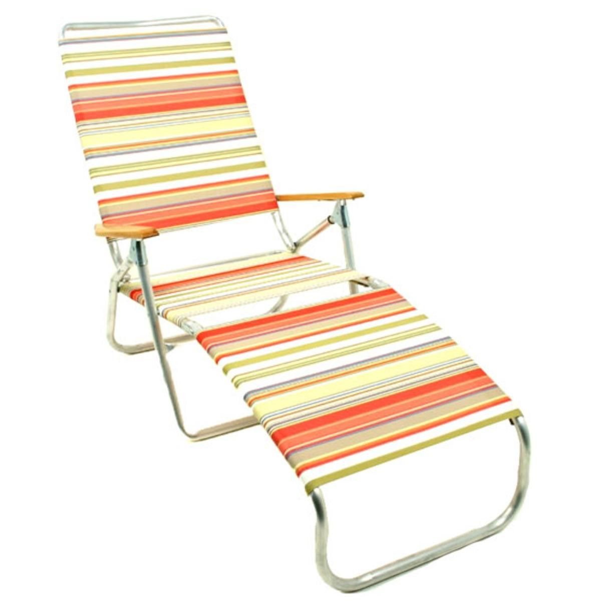 recliner patio folding aluminum chairs chaise sundale beach deluxe lounge outdoor yard pool chair
