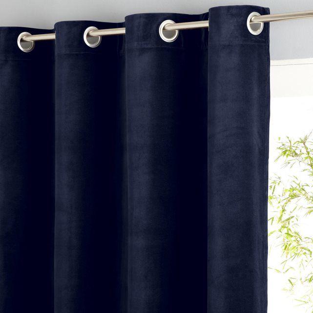 rideau velours ras illets teddy am pm prix avis notation livraison le rideau illets. Black Bedroom Furniture Sets. Home Design Ideas