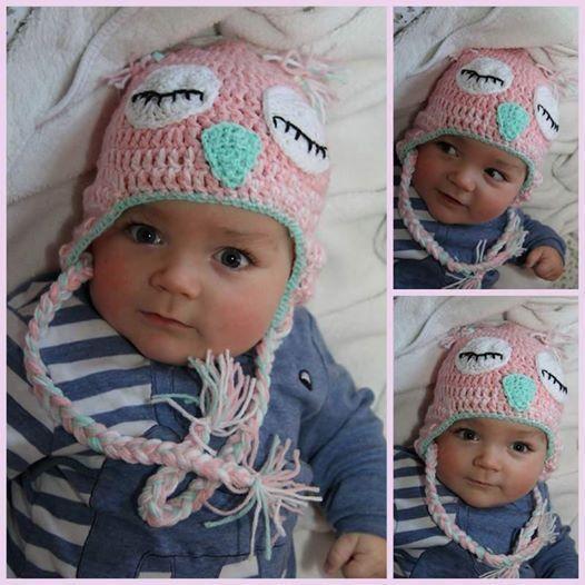 Eulen Baby Mütze von Samis Häkelwelt auf DaWanda.com