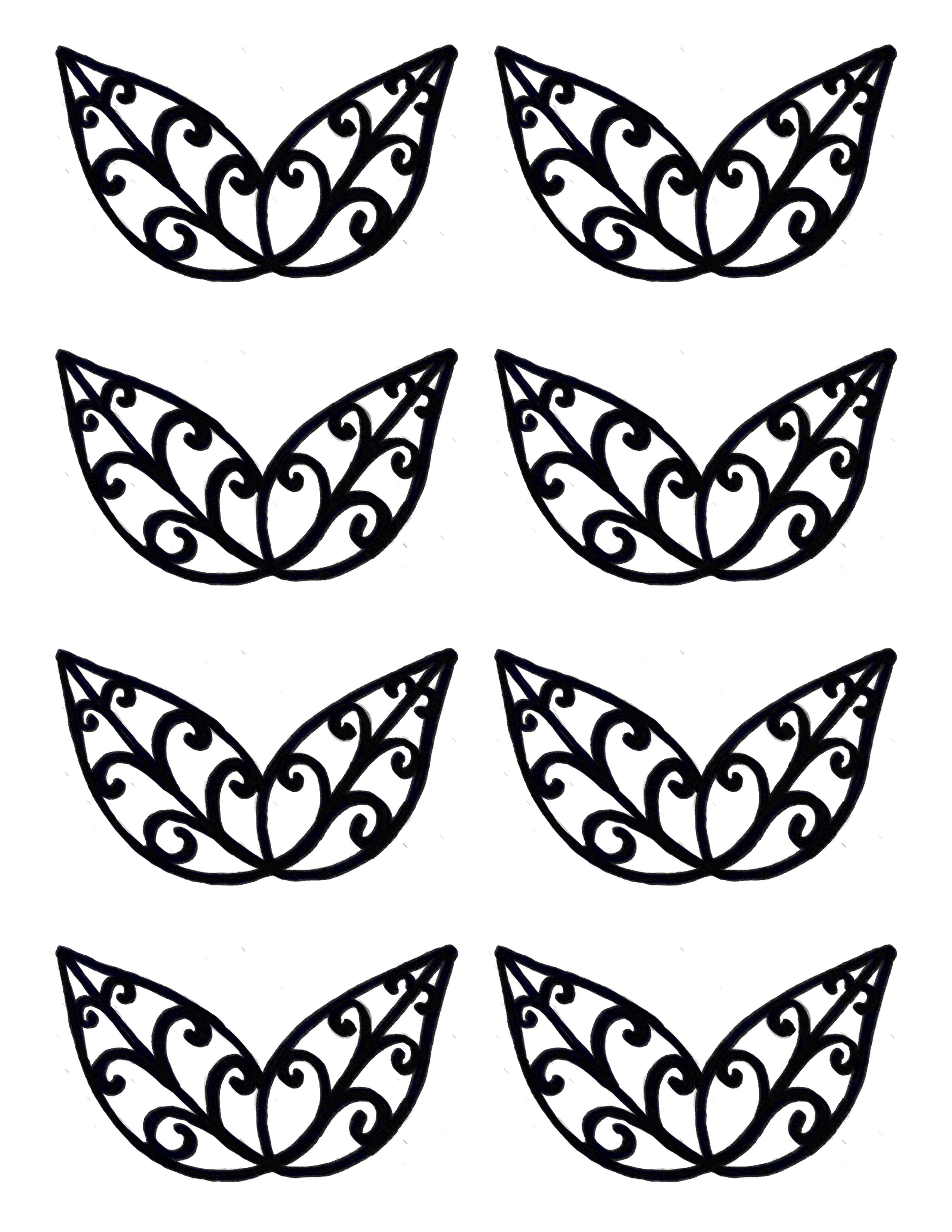 Leaves stencil. Same directions as the butterfly stencil | Chocolate ...
