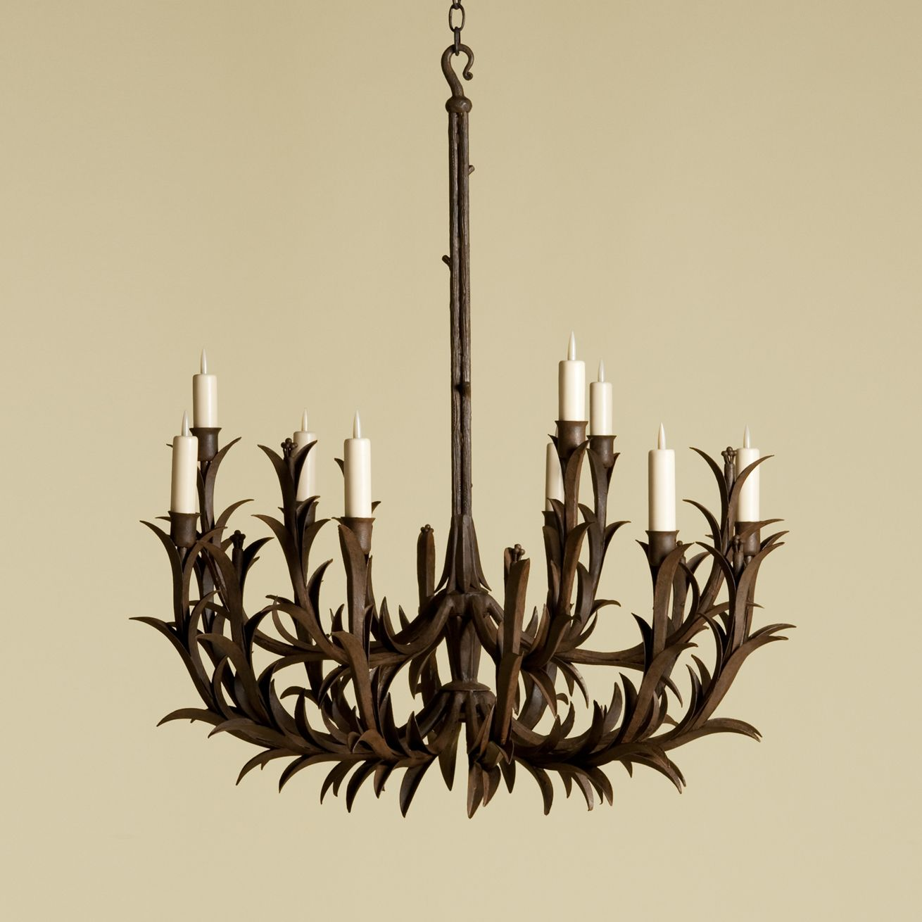 Rose tarlow sharpleaf chandelier would add great interest to a room malvernweather Images