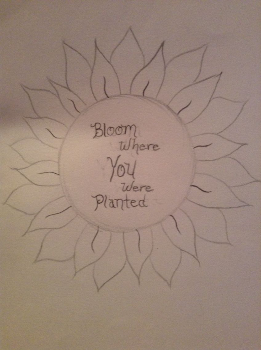 Bloom Where You Were Planted Free Handed Bloom Where You Are Planted Bloom
