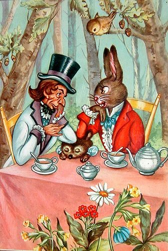 Alice In Wonderland Tea Party Mad Hatter March Hare Dormouse