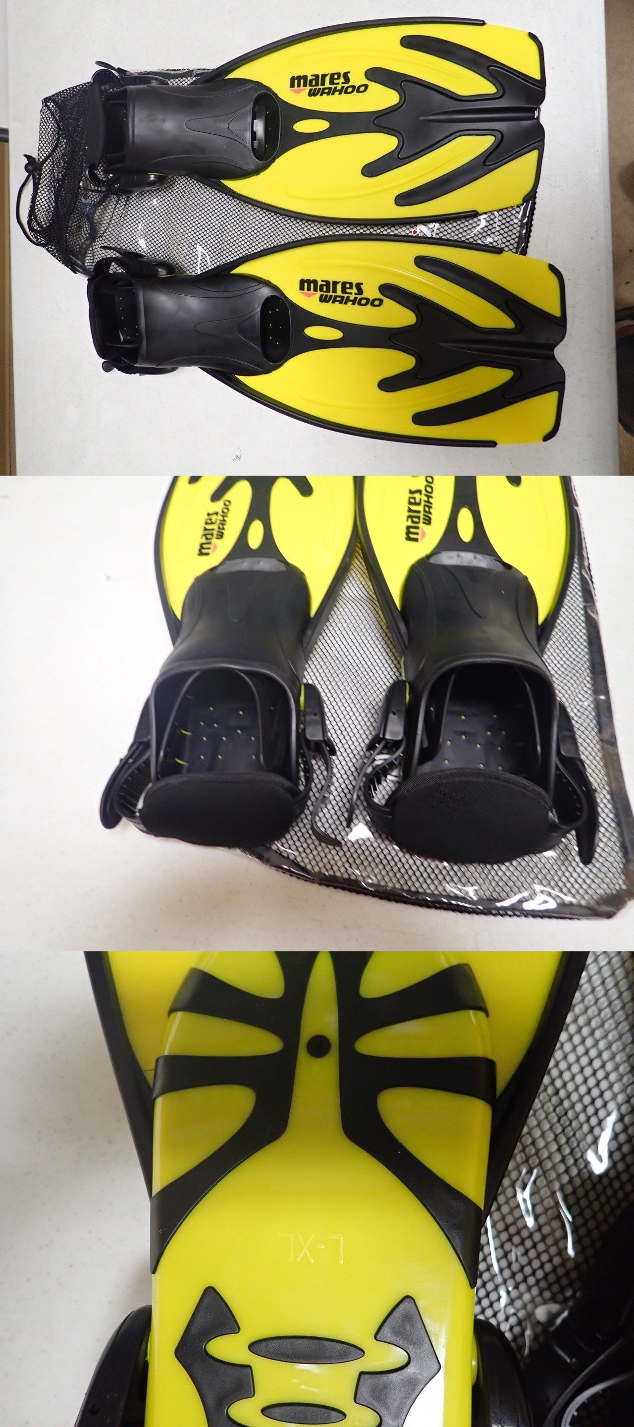 dfec86c5998a Fins Footwear and Gloves 159142  Diving Swimming Mares Wahoo Snorkeling  Yellow Flippers Scuba Fins Swim New! L Xl -  BUY IT NOW ONLY   17.95 on  eBay!