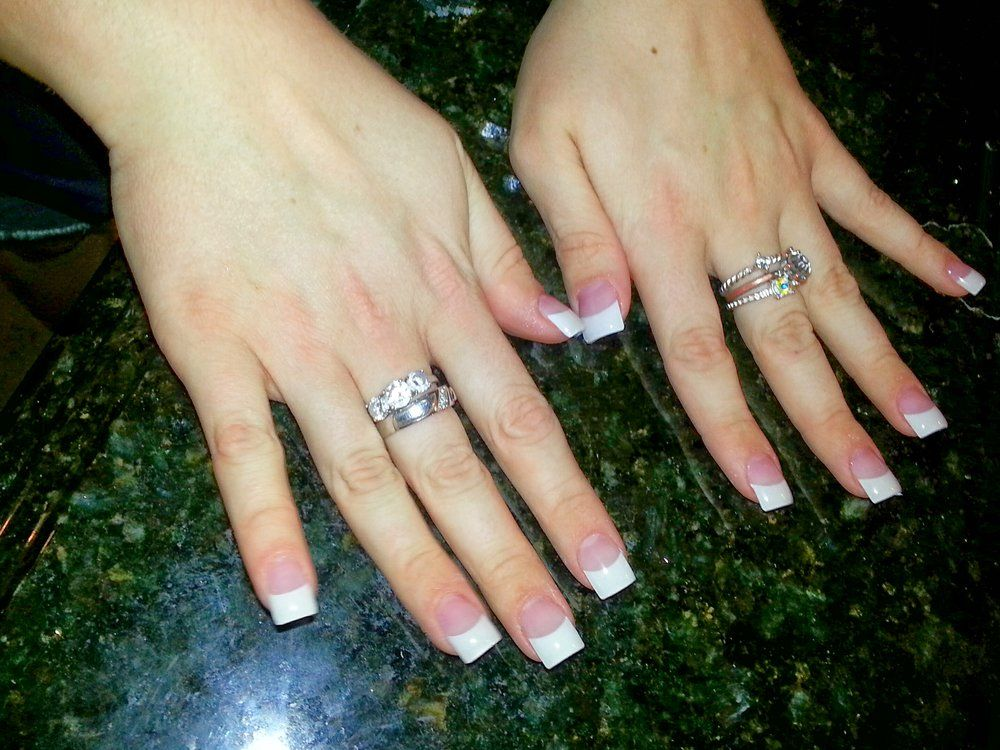 white french tips acrylic nails - Google Search | Nails | Pinterest ...