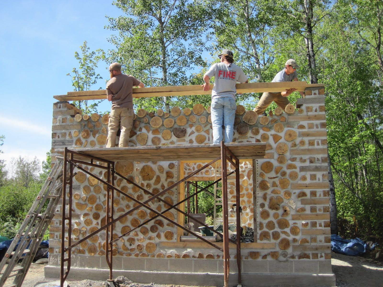 Cordwood Construction | Green Home Building: Plans For Cordwood Building