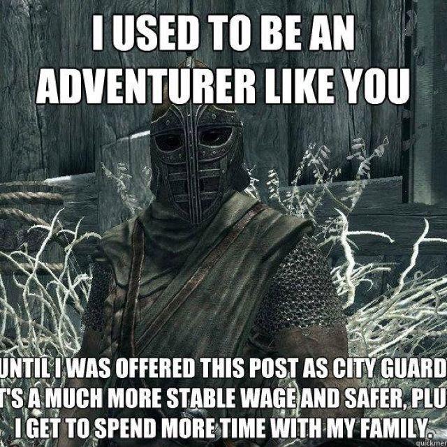 Skyrim jokes | Gaming | Skyrim, Skyrim funny, Elder ...