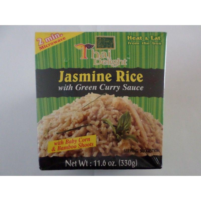 Jasmin Rice met Green Curry Saus - Kant en klaar - 2 minuten in de magnetron en klaar