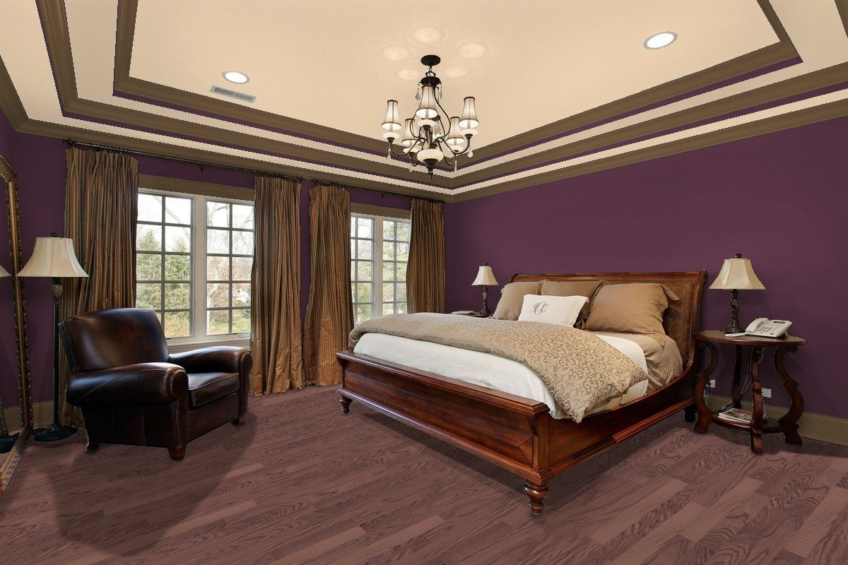 Create A Sense Of Mystery In The Bedroom With Walls Painted Deep Purple