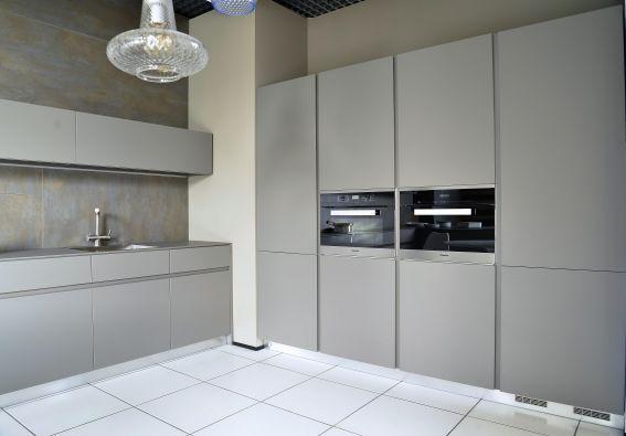 Descrizione: Cucina con struttura interna in melaminico grigio ...