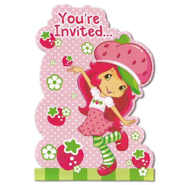 strawberry shortcake images clipart | strawberry shortcake, Wedding invitations