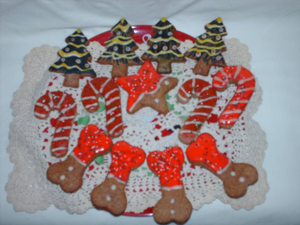 Dog Christmas Cookies Decorated With Royal Icing Christmas Dog