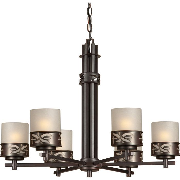 6 light chandelier in antique bronze finish by forte product highlightsthis chandelier by forte has a antique bronze finish and umbe