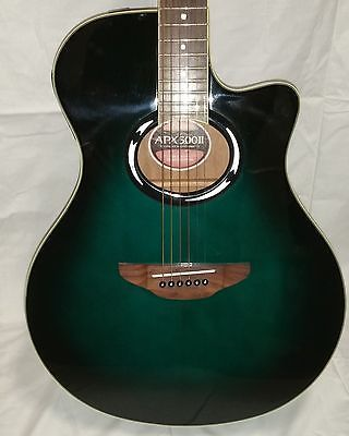Yamaha Apx500 Ii Acoustic Electric Guitar Green With Built In Tuner With Case Guitar Acoustic Electric Guitar Electric Guitar